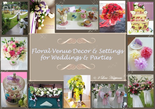 Solemnisation Wedding floral venue decor